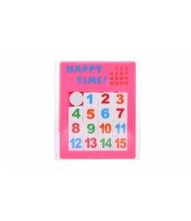 Настольная игра goki Пятнашки розовые 13186G-1