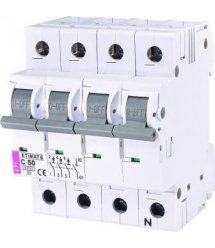 Автоматичний вимикач ETI ETIMAT 6 3p + N C 50А (6 kA)