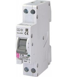 Диференційний автоматичний вимикач KZS 1M SUP C 10/0,01 тип A (6kA) (верхнє з'єднання)