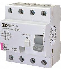 Реле диференційне ETI (УЗО) EFI-4 63 / 0,3 тип AC (10kA)