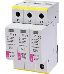 Обмежувач перенапруги ETI ETITEC C T2 275/20 (3+0) 3p