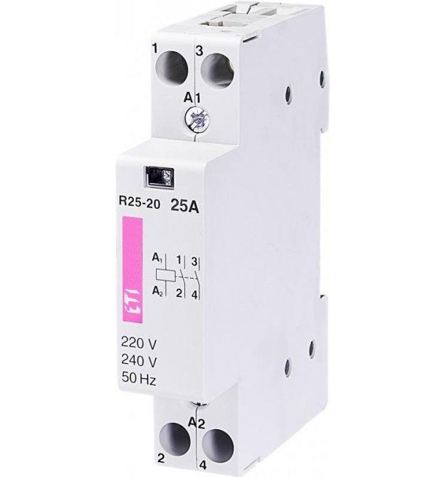Контактор ETI R 25-20 230V AC 25A (AC1)