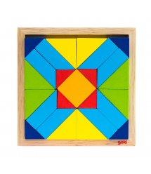 Пазл деревянный goki Мир форм-прямоугольник 57572-4