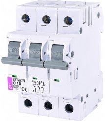 Автоматичний вимикач ETI ETIMAT 6 3p C 10А (6 kA)