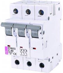 Автоматичний вимикач ETI, ETIMAT 6 3p C 40А (6 kA)