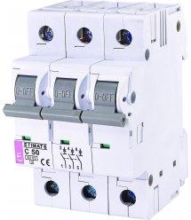 Автоматичний вимикач ETI, ETIMAT 6 3p C 50А (6 kA)
