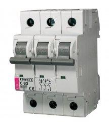 Автоматичний вимикач ETI, ETIMAT 10 3p C 63А (6 kA)