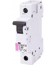 Автоматичний вимикач ETI, ETIMAT 10 1p C 40А (10 kA)