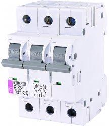 Автоматичний вимикач ETI, ETIMAT 6 3p C 20А (6 kA)