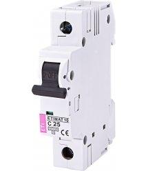 Автоматичний вимикач ETI, ETIMAT 10 1p C 25А (10 kA)