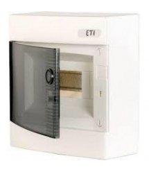 Щит ETI зовнішній розподільчий ECT 8PT (8 модулів прозорі двері)