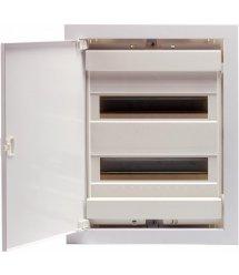 Щит металопластиковий ETI ECG28 (внутрішній, 2х12+4модулів, дверцята білі, IP40)
