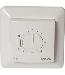 Терморегулятор Devireg 527 без датчика температури, пропорційне керування, 15А, білий