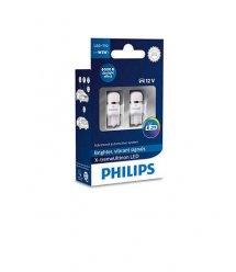 Лампа автомобільна світлодіодна Philips W5W X-tremeUltinon LED 6000K, 2шт/блістер