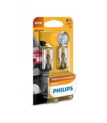 Лампа розжарювання Philips W16W Vision, 2шт/блістер
