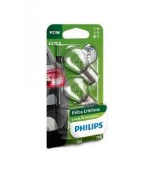 Лампа розжарювання Philips P21W LongLife EcoVision, 2шт/блістер