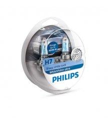 Лампа галогена Philips H7 WhiteVision Ultra +60%, 4200K, 2шт/блистер