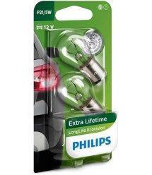 Лампа накаливания Philips P21/5W LongLife EcoVision, 2шт/блистер