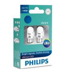 Лампа автомобільна світлодіодна Philips W5W Ultinon 4000K 12V, 2шт/блістер