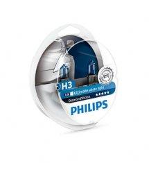 Лампа галогенная Philips H3 Diamond Vision 5000K, 2шт/блистер