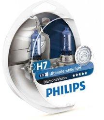 Лампа галогенна Philips H7 Diamond Vision, 5000K, 2шт/блістер