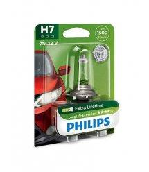 Лампа галогенна Philips H7 LongLife EcoVision, 1шт/блістер
