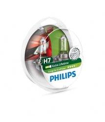 Лампа галогенная Philips H7 LongLife EcoVision, 2шт/блистер