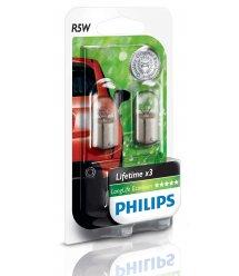 Лампа накаливания Philips R5W LongLife EcoVision, 2шт/блистер