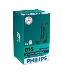 Лампа ксенонова Philips D1S X-treme Vision +150% 4800K gen2, 1шт/картон