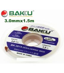 Оплетка для удаления припоя BAKKU BK-3015, 3,0mm x 1,5m, Box