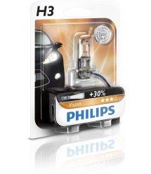 Лампа галогенная Philips H3 Vision, 3200K, 1шт/блистер