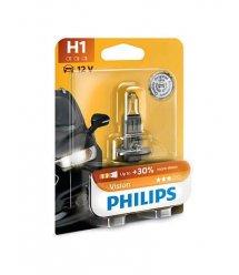 Лампа галогенная Philips H1 Vision, 3200K, 1шт/блистер