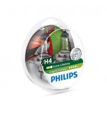 Лампа галогенна Philips H4 LongLife EcoVision, 2шт/блістер