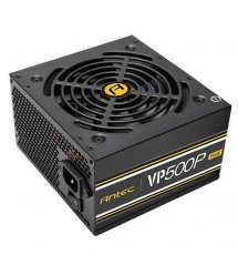 Блок живлення Antec Value Power VP500P Plus 500W,12cm fan,a/PFC,24+8,2xPeripheral,1xFDD,7xSATA,2xPCIe