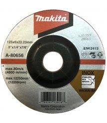 Диск зачисний Makita 125 мм 36N по нержавіючій сталі (A-80656)
