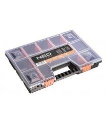 Neo Tools 84-111 Органайзер 65х490х390мм с регулируемыми перегородками, пластмассовые замки, полипропилен