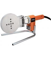 Паяльник для пластикових труб NEO Tools, 650 Вт, 4 насадки, PTFE-покриттяб, 260°С, 6,9кг, кейс