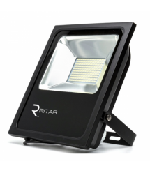 Прожектор SLIM LED RITAR RT-FLOOD100A, 100W, 112xSMD2835, IP65, 8000Lm, 6500K (100%), PF0.9 Ra70, 283*270*30mm, Q10