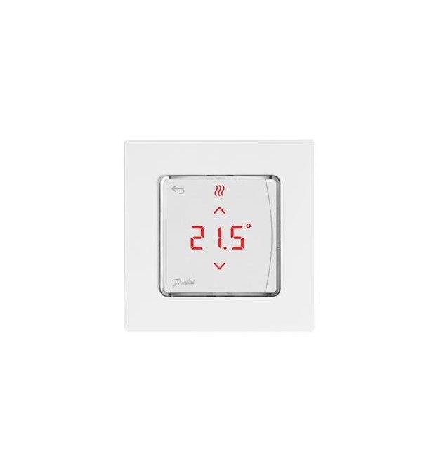 Терморегулятор Danfoss Icon RT Display On-Wall 0-40 ° C, сенсорний, накладний, 24V