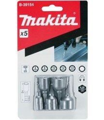 Набір насадок магнітних Makita з хвост.1/4'Hex (6,8,10,12,13х50 мм)