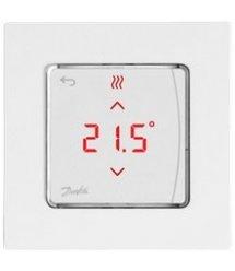 Терморегулятор Danfoss Icon Display, електронний, сенсорний, програмований, 230V, 80 х 80мм, On-wall, білий