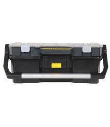 """Ящик для інструментів 67x32x25см з кейсом, шо знімається з прозорою кришкою """"Stanley"""" ємність 53 л, навантаження 18 кг"""