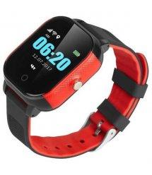 Дитячий телефон-годинник з GPS трекером GOGPS К23 чорний з червоним