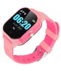 Дитячий телефон-годинник з GPS трекером GOGPS К23 рожевий