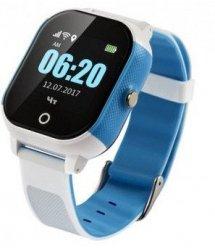 Дитячий телефон-годинник з GPS трекером GOGPS К23 синій з білим