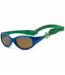 Детские солнцезащитные очки Koolsun сине-зеленые серии Flex (Размер: 3+)