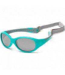 Дитячі сонцезахисні окуляри Koolsun KS-FLAG000 бірюзово-сірі серії Flex (Розмір: 0+)