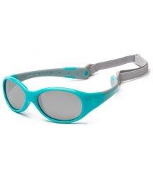 Дитячі сонцезахисні окуляри Koolsun KS-FLAG003 бірюзово-сірі серії Flex (Розмір: 3+)