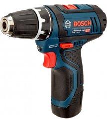 Шуруповерт акумуляторний Bosch Professional GSR 12V-15 (2Ah & 4Ah) + свердла та біти 39од.