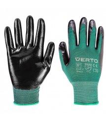 """Рукавички садові Verto, нітрилове покриття, розмір 7"""""""